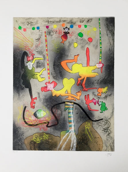 Carnamont IV, 1979 Limited Edition Etching with Aquatint, Roberto Matta