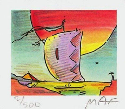 Sailboat Series IV (Mini) by Peter Max - Fine Artwork