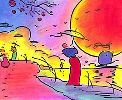 Two Sages by Peter Max - Fine Artwork