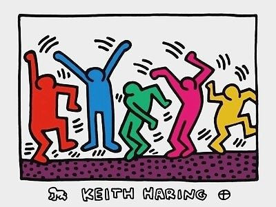 Untitled (Five Dancing Figures), 2011 Exhibition Poster, Keith Haring - Fine Artwork