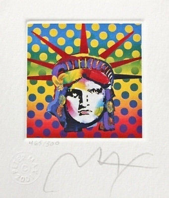 Liberty Head V (Mini), Limited Edition Lithograph, Peter Max - Fine Artwork