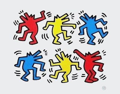 Barking Dogs, Offset Lithograph, Keith Haring - Fine Artwork