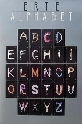 The Alphabet, 1977 Exhibition Poster, Erté - Fine Artwork