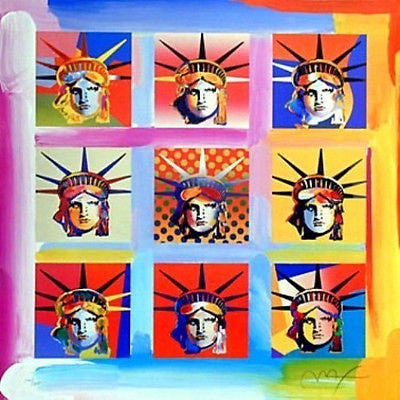 Nine Liberties by Peter Max - Fine Artwork
