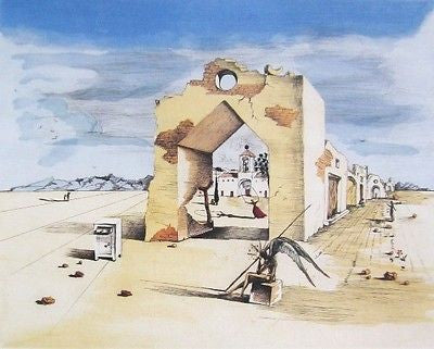 Paranoiac Village, Ltd Ed Offset Lithograph, Salvador Dali - Fine Artwork