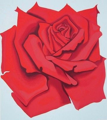 Red Rose, Ltd Ed Silk-screen, Lowell Nesbitt - Fine Artwork