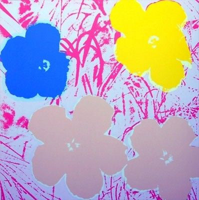 Flowers #70 (Sunday B. Morning), Silk-screen, Andy Warhol - with COA - Fine Artwork