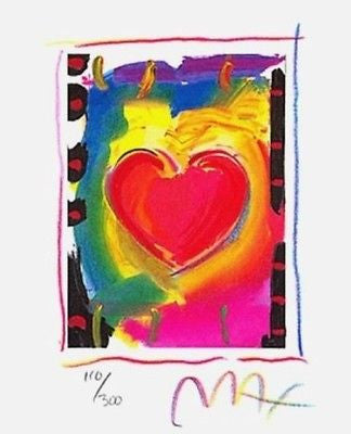 Heart Series I (Mini) by Peter Max - Fine Artwork