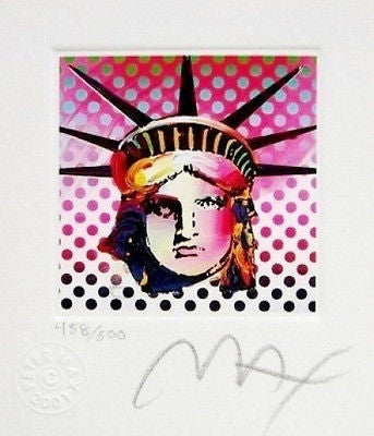 Liberty Head II (Mini), Limited Edition Lithograph, Peter Max - Fine Artwork