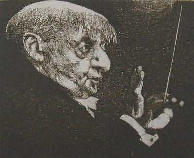 The Maestro, Duotone Lithograph, Charles Bragg - Fine Artwork