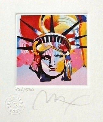 Liberty Head VI (Mini), Limited Edition Lithograph, Peter Max - Fine Artwork