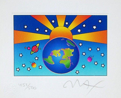 Protect Our Home Version I (Mini) by Peter Max - Fine Artwork