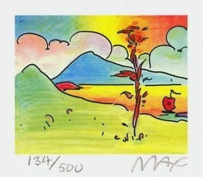 Tree with Sailboat (Mini) by Peter Max - Fine Artwork