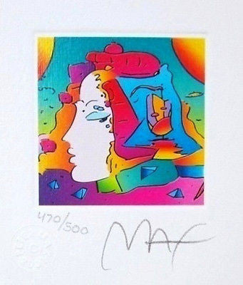 Cosmic Profile (Mini), Limited Edition Lithograph, Peter Max - Fine Artwork