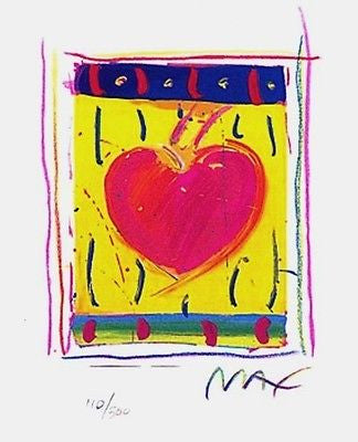 Heart Series VI (Mini), Limited Edition Lithograph, Peter Max - Fine Artwork