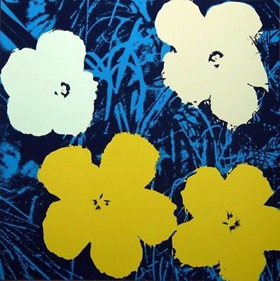 Flowers #72 (Sunday B. Morning), Silk-screen, Andy Warhol - with COA - Fine Artwork