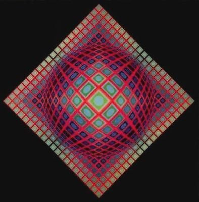 VEGA-201, Offset Lithograph, Victor Vasarely - Fine Artwork