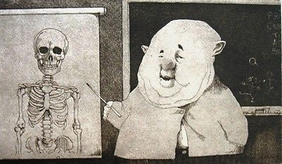 The Anatomist, Duotone Lithograph, Charles Bragg - Fine Artwork