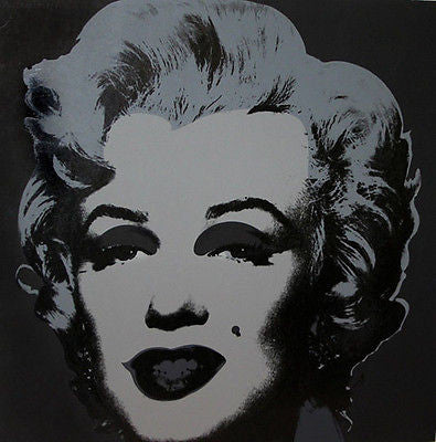 Marilyn Black/Silver, Offset Lithograph, Andy Warhol - Fine Artwork