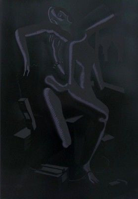 Close Call, Ltd Ed Silk-screen, Mark Kostabi - Fine Artwork