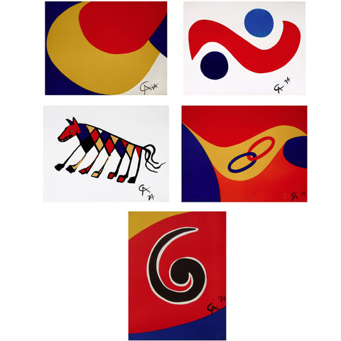 Flying Colors Suite, 5 Limited Edition Prints, Alexander Calder - Fine Artwork