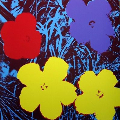 Flowers #71, (Sunday B. Morning), Silk-screen, Andy Warhol - with COA - Fine Artwork