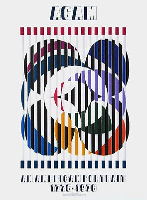An American Portrait, 1976 Exhibition Poster, Yaacov Agam - Fine Artwork