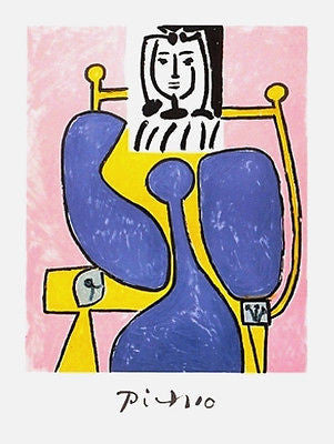 Woman & Blue Rose, Ltd Ed Lithograph, Pablo Picasso - Fine Artwork