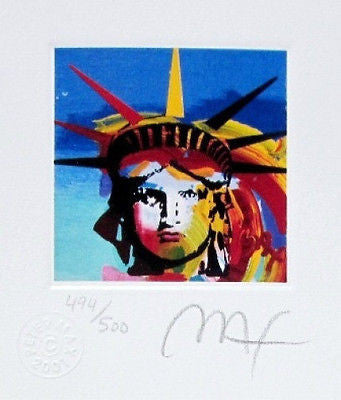 Liberty Head III (Mini), Limited Edition Lithograph, Peter Max - Fine Artwork