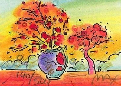 Vase with Tree by Peter Max - Fine Artwork