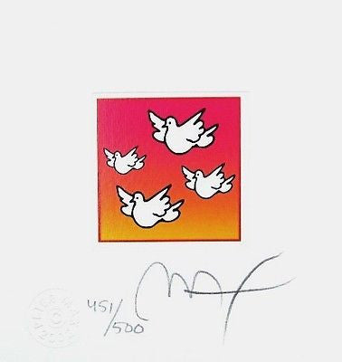 Flying Doves (Mini) by Peter Max - Fine Artwork
