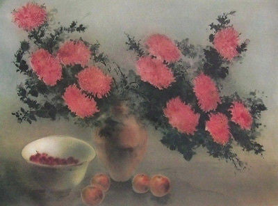 Chrysanthemums / Roses, (2) Offset Lithographs, Kaiko Moti - Fine Artwork