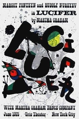Lucifer, 1975 Exhibition Poster, Joan Miró - Fine Artwork