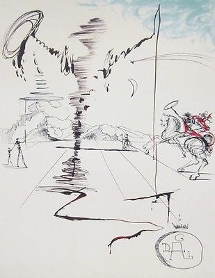Chevalier, Ltd Ed Offset Lithograph, Salvador Dali - Fine Artwork