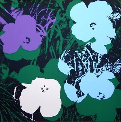 Flowers #64 (Sunday B. Morning), Silk-screen, Andy Warhol - with COA - Fine Artwork