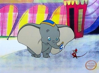 Dumbo & Timothy Mouse, Ltd Ed Sericel, Disney - Fine Artwork