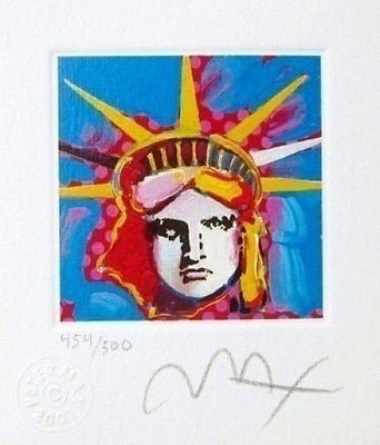 Liberty Head I (Mini) by Peter Max