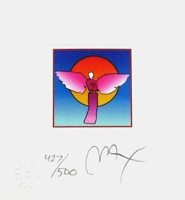 Angel with Sun II (Mini), Limited Edition Lithograph, Peter Max - Fine Artwork