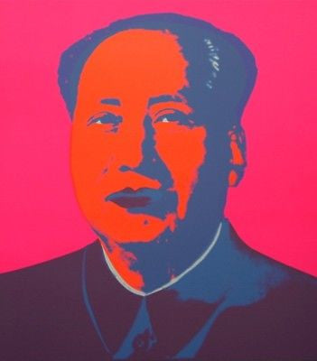 Mao (Hot Pink) Sunday B. Morning, Silk-screen, Andy Warhol - with COA - Fine Artwork