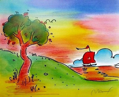 Quiet Lake III, Lithograph by Peter Max - Fine Artwork