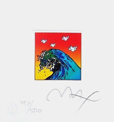 Great Wave with Doves (Mini) by Peter Max - Fine Artwork