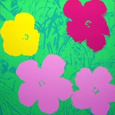 Flowers #68 (Sunday B. Morning), Silk-screen, Andy Warhol - with COA - Fine Artwork