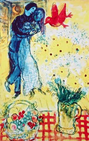 Lovers & Daisies, Limited Edition Giclee, Marc Chagall - Fine Artwork