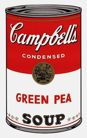 Campbell's Soup Green Pea, Silkscreen, Andy Warhol - Fine Artwork