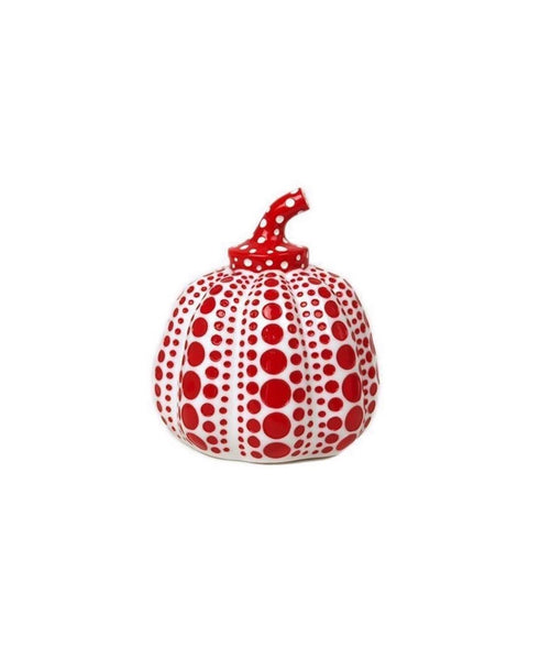 Pumpkin (Red & White), Painted Cast Resin Sculpture, Yayoi Kusama