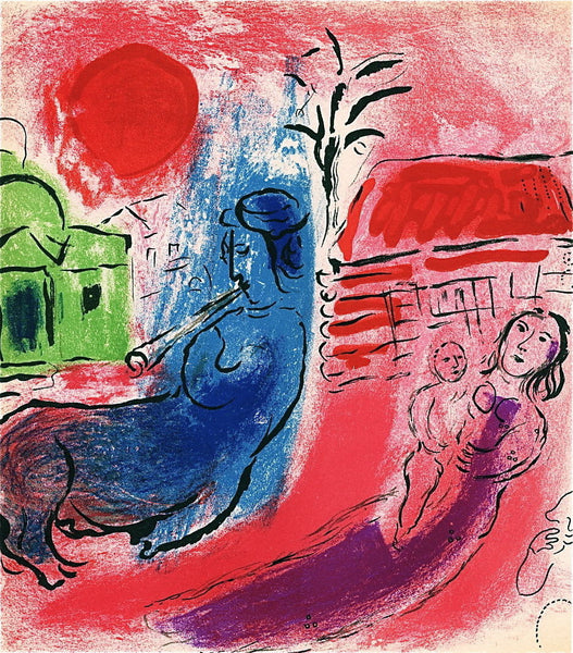 Maternite au Centaure, 1957 Ltd Ed Lithograph, Marc Chagall - Fine Artwork