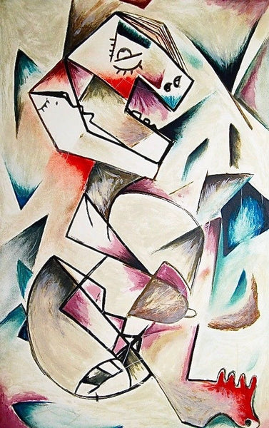Geometric Look, Limited Edition Lithograph, Alexandra Nechita