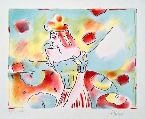Composition Red & Green, Lithograph, Peter Max - Fine Artwork