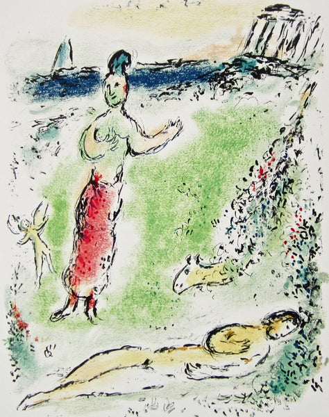 Athena Puts Ulysses to Sleep (The Odyessy) 1989, Ltd Ed Litho, Marc Chagall - Fine Artwork