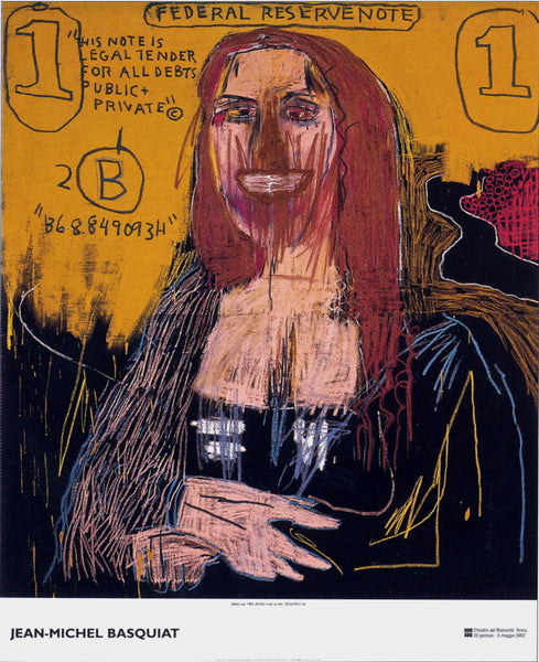 Mona Lisa, Exhibition Poster, Jean-Michel Basquiat - Fine Artwork